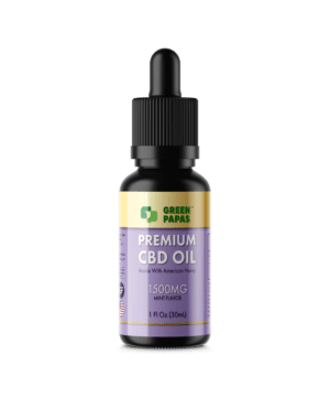1500mg cbd oil with thc mint flavor