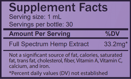 night-time 1000mg supplement facts table